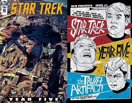 Star Trek : Year Five [TOS;2019] Covers-year5-05-696x545
